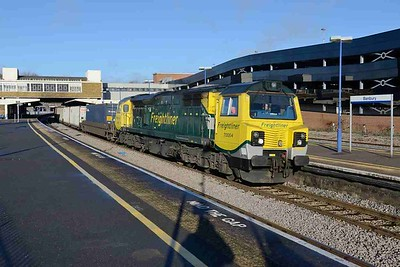 8 December 2017 :: 70004 is passing Banbury working 4O90 from Leeds to Southampton