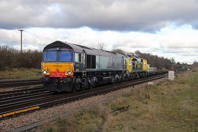 66413 Worting Junction 08/12/17 4O49 Crewe to Southampton with 70007