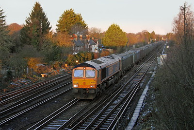 66759 Worting Junction 27/12/17 4Y19 Mountfield to Southampton Docks