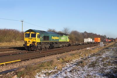 66522 Worting Junction 28/12/17 4O14 Garston to Southampton