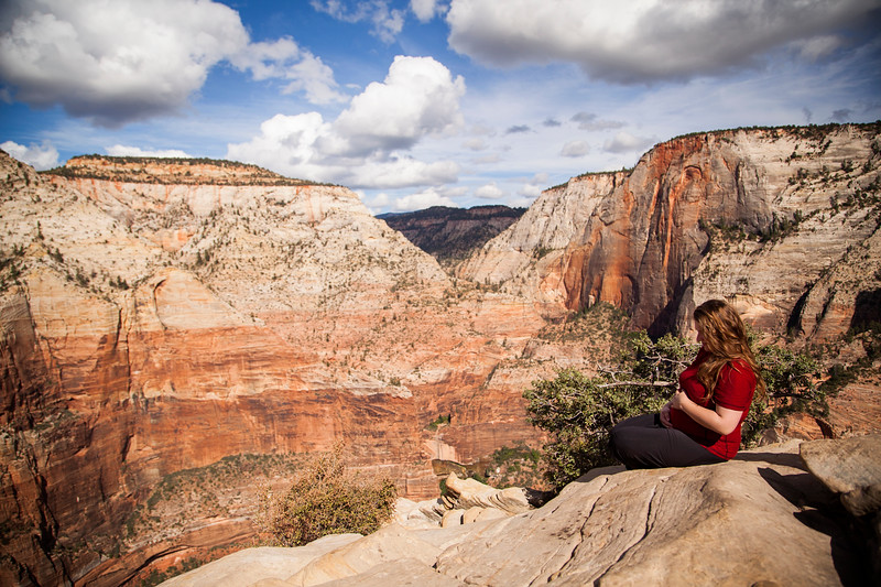 Tracy atop Angel's Landing.