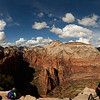 A 360 panorama from the summit of Angel's Landing, with Zion Canyon falling away in all directions around us.