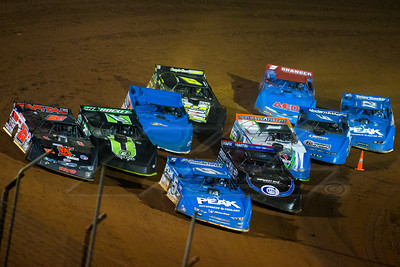 Don O'Neal (5), Shane Clanton (25), Scott Bloomquist (0), Jimmy Owens (20), Josh Richards (1), Dennis Erb, Jr. (28), Jason Croft (9), Chris Ferguson (22),Hudson O'Neal (71) and Eric Granger (9)