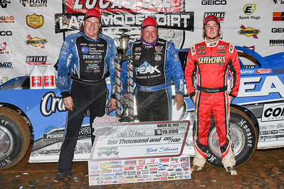 Scott Bloomquist (L), Don O'Neal (C) and Tanner English (R)