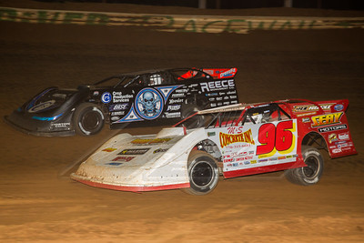 Tanner English (96) and Scott Bloomquist (0)