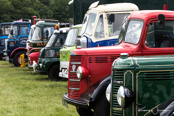 Commercial vehicles line up