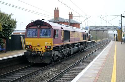 66075 1011/0Z61 Peterboro-Ripple Lane passes Welwyn North   21/12/17