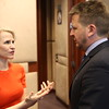 Liechtenstein's FM Aurelia Frick, Iceland's FM Iceland's FM Guðlaugur Þór Þórðarson
