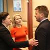 Iceland's Ambassador to the EU Bergdís Ellertsdóttir, Liechtenstein's FM Aurelia Frick, Iceland's FM Guðlaugur Þór Þórðarson