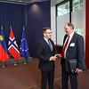 Iceland's FM Guðlaugur Þór Þórðarson with EFTA Secretary General Kristinn F. Árnason