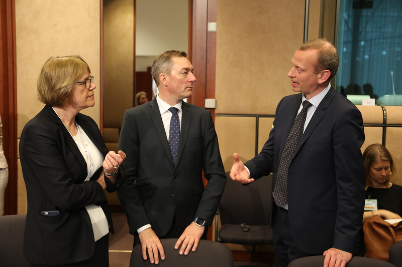 Oda Sletnes Ambassador of Norway to the EU with Frank Bakke-Jensen, Minister of EEA and EU Affairs of Norway