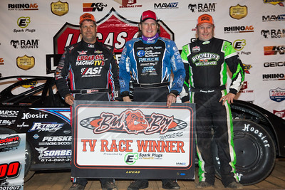 Earl Pearson, Jr. (L), Scott Bloomquist (C) and Jimmy Owens (R)