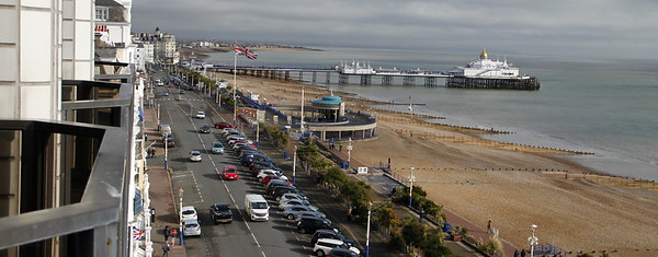 View from our balcony: Bandstand and Pier