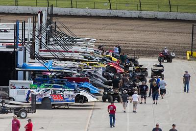 Eldora Speedway pit area
