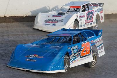 Dennis Erb, Jr. (28) and Zack Dohm (17)
