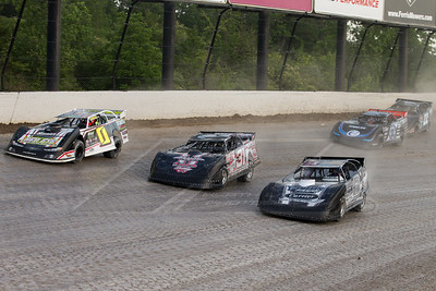 Jake O'Neil (0), Nick Latham (31), Timothy Culp (C8), Scott Bloomquist (0) and Gregg Satterlee (22)