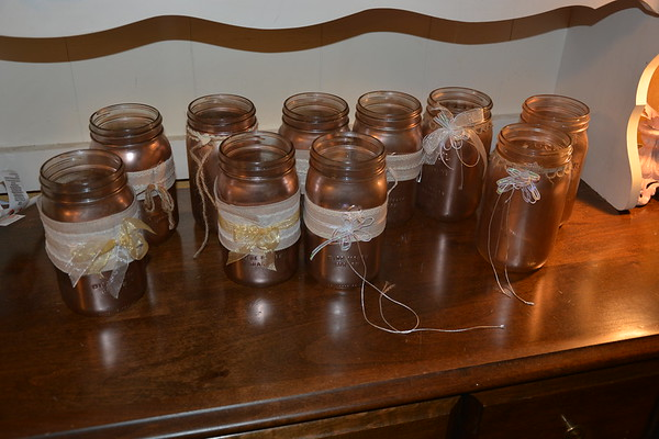 Ellen's Mason Jars from wedding 2.2017