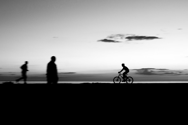 Cyclist on the Pier