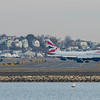 A British Airways 747-400 at Boston Logan Airport.