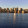 The Boston skyline from East Boston.