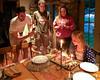 Celebrating Hannah's birthday: Benjamin, Joey, Isabel, and Hannah