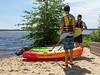 Joey and Benjamin preparing to kayak