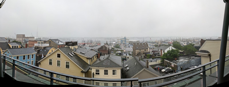From the Whaling Museum, New Bedford port on a rainy day