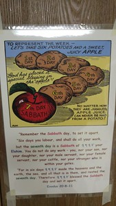 TO REPRESENT THE WEEK - LETS TAKE SIX POTATOES AND A SWEET JUICY *APPLE*