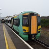 Southern Class 377 Electrostar no. 377115 at Seaford on a Brighton service.