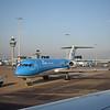 KLM Cityhopper Fokker 70 PH-KZS at Amsterdam Schipol Airport.