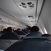 KLM Cityhopper Embraer E190 PH-EXA interior on my flight from London Heathrow to Amsterdam.