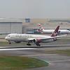 Virgin Atlantic Boeing 787 Dreamliner G-VFAN landing at London Heathrow.