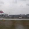 Retired British Airways Aérospatiale/BAC Concorde G-BOAB at London Heathrow.