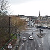 The A690 looking into Durham city centre.