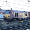 DB Cargo Class 67 no. 67016 at Newcastle on thunderbird duties.