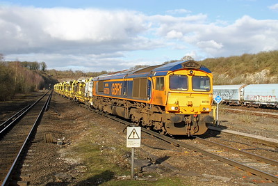 66730 Micheldever 24/02/17 4O65 Peterborough to Eastleigh