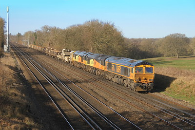 66705 Potbridge 24/02/17 6Y48 Eastleigh to Hoo Junction with 66849 and 66850
