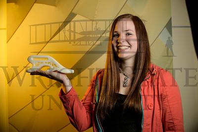 18624 Engineering Student Bridget Fricke with Prosthetics 2-16-17