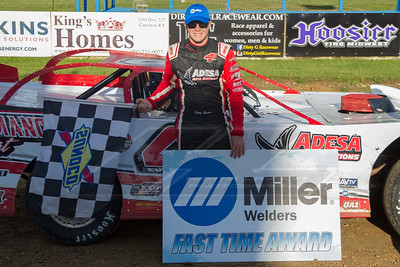 Miller Welders Fast Time Award winner Kody Evans