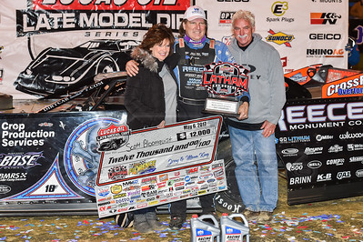 Scott Bloomquist with Dave and Sandy Latham