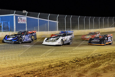Scott Bloomquist (0), Shanon Buckingham (50), Earl Pearson, Jr. (1), Michael Chilton 97) and Tim McCreadie (39)