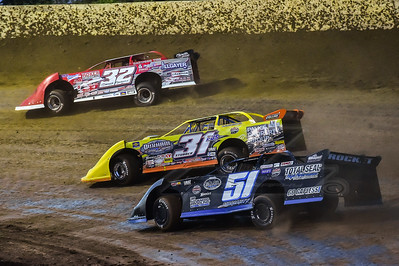 Bobby Pierce (32). Paul Stubber (31) and Joey Moriarty (51)