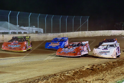 Zack Dohm (17), Jonathan Davenport (49), Eddie Carrier, Jr. (10) and Billy Moyer, Jr. (21JR)
