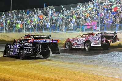 Tim McCreadie (39), Scott Bloomquist (0) and Bobby Pierce (32)