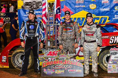 Scott Bloomquist (L), Tim McCreadie (C) and Bobby Pierce (R)
