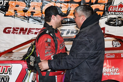 Brandon Overton (L) and car owner Randy Weaver (R)
