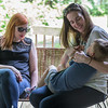 Jenny and Jess with Henry, who generally speaking is too big now to sit on laps.