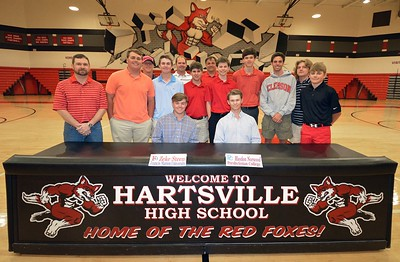 Zeke Steen and Haydon Norwood, both Hartsville High school seniors, signed letters of intent on April 13, 2017 to play collegiate golf. Steen will head to Francis Marion University, and Norwood will play for Presbyterian College.
