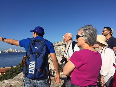 Princetonians take in the view from el Morro in Havana - Kristin Cass
