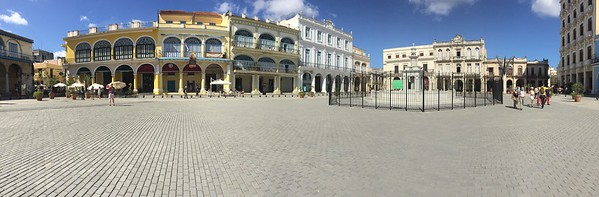 Panoramic view of Plaza Vieja - Kristin Cass